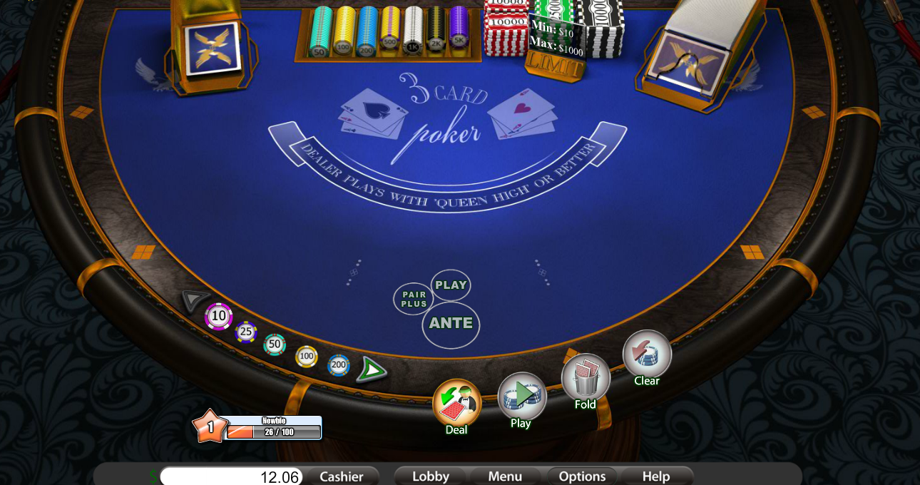 Play 3 Card Poker Elite Edition - USA and International Players Welcome