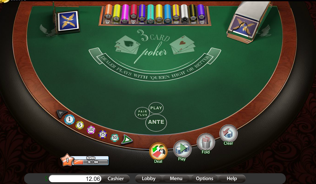 Play 3 Card Poker - USA and International Players Welcome
