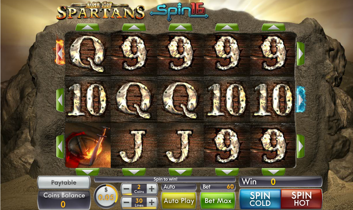 Play Age of Spartans Spin 16 - USA and International Players Welcome