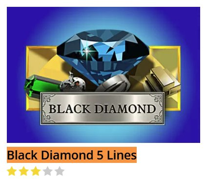 Black Diamond Black Diamond 5 Lines @ http://mobilecasinogame.info