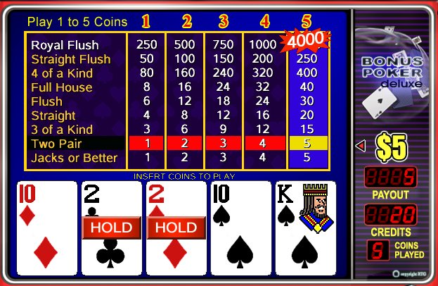 Play Bonus Poker Deluxe - USA and International Players Welcome