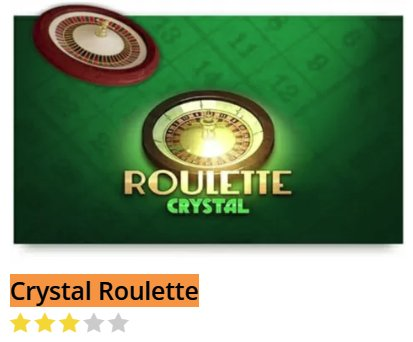 Black Diamond Crystal Roulette @ http://mobilecasinogame.info