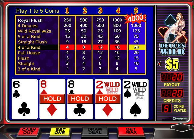 Play Deuces Wild - USA and International Players Welcome