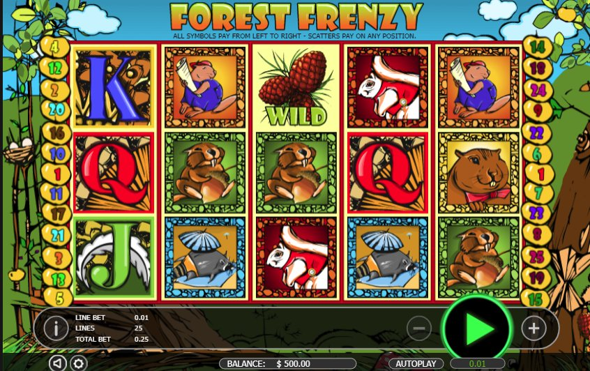 Black Diamond Forest Frenzy @ http://mobilecasinogame.info