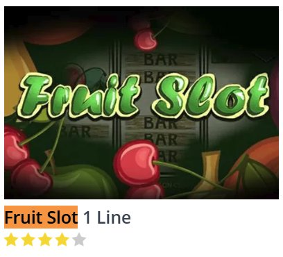 Black Diamond Fruit Slot 1 Line @ http://mobilecasinogame.info
