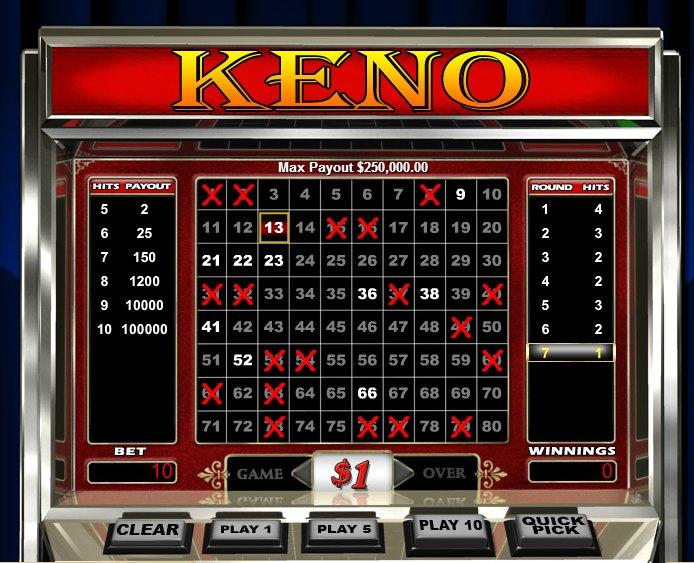 Keno @ Casino Cruise