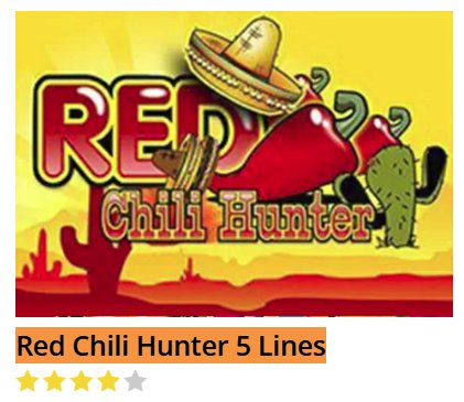 Black Diamond Red Chili Hunter 5 Lines @ http://mobilecasinogame.info