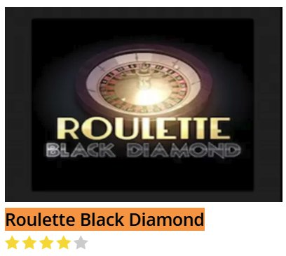 Black Diamond Roulette Black Diamond @ http://mobilecasinogame.info